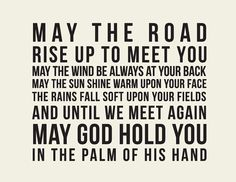 Irish Blessing //May the road rise to meet you // by LADYBIRD INK, $19.00 on etsy