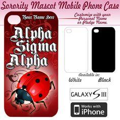Alpha Sigma Alpha Sorority Mascot Phone Case #Greek #Sorority #Accessories #AlphaSigmaAlpha #ASA #Mascot #LadyBug #iPhone #PhoneCase