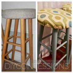 how to redo yard sale bar stools