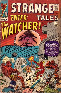 COMIC strange tales 116 #comic #cover #art
