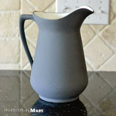 DIY Pitcher Makeover with Americana Décor Chalky Finish by DecoArt