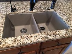 Blanco 441286 Diamond Equal Double Bowl Silgranit II Sink, Truffle   Blanco  Silgranit Sink Accessories