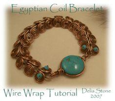 Egyptian Coil Bracelet Tutorial by TutorialShop on Etsy, $5.00