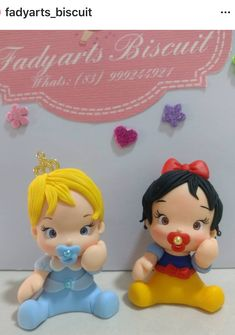 Baby Princess Polymer Clay Disney, Polymer Clay Figures, Fondant Figures, Fimo Clay, Clay Projects, Clay Crafts, Polymer Project, Acrylic Painting Flowers, Fondant Animals