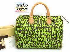 r2139 Auth LOUIS VUITTON Monogram Graffiti TH0049 SPEEDY 30 Hand Bag M93706