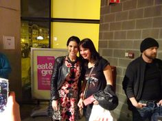 CHARLOTTE and a fan after the Within Temptation/Delain concert in Antwerpen 29-4-2014