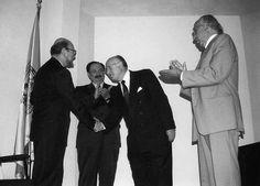 De izquierda a derecha:  José Sarukhán, Jaime Keller, Manuel Viejo Zubicaray y Jesús Guzmán