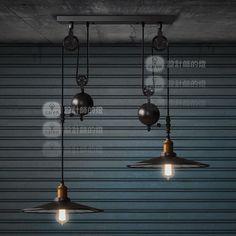 Pas cher Rh Loft ascenseur de poulie millésime double miroir de curseur lumière pendante livraison gratuite, Acheter  Éclairage suspendu de qualité directement des fournisseurs de Chine:   les détails du produit