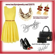 Step out with confidence and make heads turn with fun to wear, eye-catching accessories from www.tracilynnjewelry.net/23575  #razzmatazz #springfever #studbag #madeyoubling #studpurse #springbling #jewelrylover