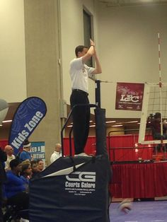 #17 Action shot of a ref. @USA Volleyball