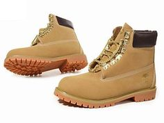 Wheat Timberland 6 Inch Boots For Women with Glod Chain