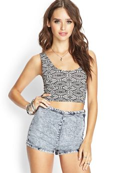 Tribal Print Crop Top | FOREVER21 #SummerForever