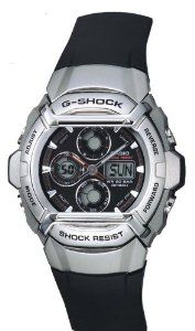 Casio Men's G511-1AV G-Shock Ana-Digi Black Shock resistant Sports Watch Casio. $89.95. Resin case; black dial. Quartz movement. Case diameter: 44 mm. Protective mineral crystal protects watch from scratches. Water-resistant to 660 feet (200 M)