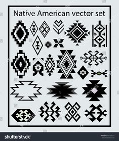 Find Native American Design Elements Vector Set stock images in HD and millions of other royalty-free stock photos, illustrations and vectors in the Shutterstock collection. Native American Regalia, Native American Patterns, Native American Symbols, Native American Design, Native American Crafts, Native Design, Native American Beadwork, American Indians, Native Symbols