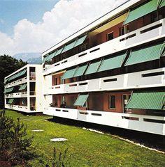 "Edward J. Cukierman (photography by J. Stieger) via ""(Das) Werk, Lausanne, Switzerland, Facade, Concrete, Mansions, Sun Protection, Architecture, House Styles, Balcony"