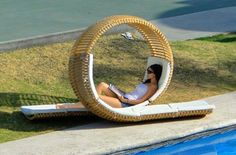 Cute, you can chat and sun bathe at the same time.