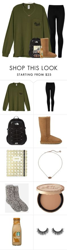 """It's December!!"" by pineappleprincess1012 ❤ liked on Polyvore featuring Wolford, The North Face, UGG, Kate Spade, Kendra Scott, Too Faced Cosmetics and Anastasia Beverly Hills"