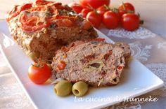 Polpettone con olive e pomodori secchi