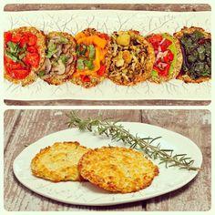 cauliflower pizza crust | vegan + paleo wow I love rosemary and this crust has it!!!