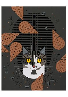 Cattitude Boxed Notecards by Charley Harper