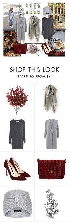"""""""Grey Scarf"""" by captain-blonde ❤ liked on Polyvore featuring Daniel Wellington, Fine Collection, Warehouse, Chanel and Topshop"""