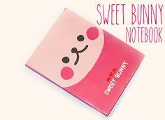 Sweet Bunny A6 Sticky Note Book