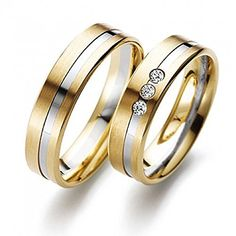 Two Tone Yellow-white-yellow Platinum And Gold Satin Flat Channel Ladies And Mens Wedding Rings Carat Round Diamond 02284 Wedding Rings For Women, Gold Wedding Rings, Wedding Men, Wedding Bands, Mens Gold Jewelry, Black Hills Gold Jewelry, Delicate Rings, Diamond Cluster Ring, Gold Gold