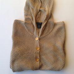 "CK golden fish net sweater open kit sweater, short waisted, hoodie, 3/4 sleeve, 15"" shoulders, 17"" chest, 19"" long Calvin Klein Sweaters"