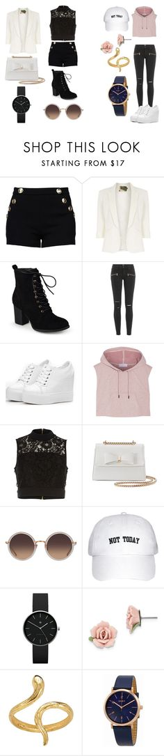 """Untitled #114"" by poinapples on Polyvore featuring Boutique Moschino, Jolie Moi, Journee Collection, Paige Denim, adidas, River Island, Kiss Me Couture, Linda Farrow, Newgate and 1928"