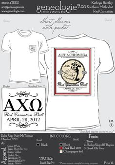 AXO t-shirt this would be cute for formal!