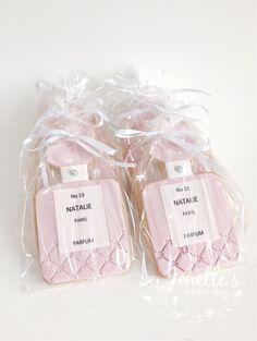 Perfume cookies. By Jenelle's Custom Cakes!