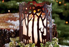 Woodland Light Candle Sleeve - your GloLite by PartyLite jar candle and round pillars will love it! www.partylite.biz/susanjamison