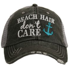 cb60e64dbe8 Shop for women s wholesale beach hair don t care anchor. trucker hats at  Katydidwholesale