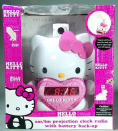 Hello Kitty Projection Clock Radio