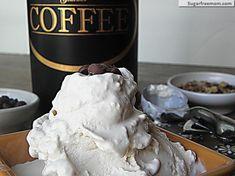 Healthier #LowCarb #Coffee #IceCream (egg & sugar free) No artificial Ingredients, 3 carbs per serving