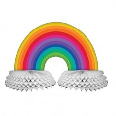 Rainbow Party Centrepiece | Rainbow Party Supplies - Discount Party Supplies
