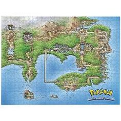 Piece together a bit of the wonderful world of Pokémon!  This puzzle showcases a map of the Kanto region. $9.97