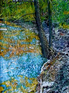 "spring stream (sketch) 22"" x 14""  micheal zarowsky - (watercolour on arches paper / nfs"