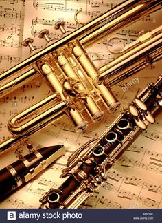 still life of musical instruments and sheet music Stock Photo, Royalty Free Image: 2544475 - Alamy
