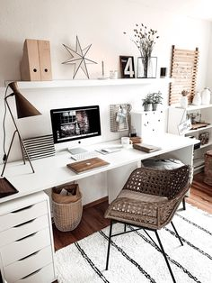 Home Office Space, Home Office Design, Home Office Decor, Home Decor, Study Room Decor, Room Decor Bedroom, Aesthetic Room Decor, My New Room, Office Interiors