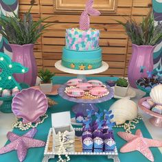 Mermaids are creatures known to attract sailors in time of discovery. These creatures have gained enough relevance to the Disney movie Mermaid Theme Birthday, Little Mermaid Birthday, Little Mermaid Parties, First Birthday Party Decorations, Mermaid Party Decorations, Birthday Parties, 4th Birthday, First Birthdays, Barbie