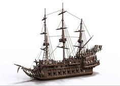 Flying Dutchman for POTC game | Renders of my design for the… | Flickr
