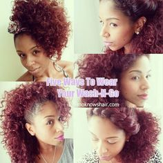 Ways to rock your wash-n-go at youtube.com/moknowshair