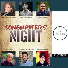 Playlight Theatre Songwriters' Night    June 30