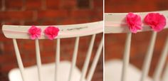 HEY LOOK: EASY CHAIR DECOR WITH CREPE PAPER FLOWERS