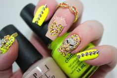 Dazzle Glam Nails | Nail Art Blog: Neon Leopard Print Nails