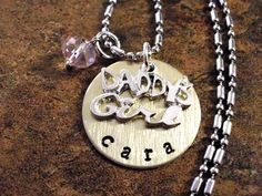 Personalized Jewelry Hand Stamped Jewelry Daddy's by CharmAccents, $21.00