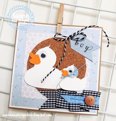 So Sanne: Badeendjes Marianne Design, Baby Design, Baby Cards, Rubber Duck, Baby Boy, Baby Shower, Scrapbook, Holiday Decor, Children