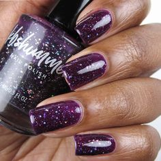 Glitter Nail Polish, Holographic Glitter, Nail Polish Colors, Grape Color, Purple Nail Designs, Jelly Nails, Purple Nails
