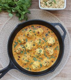 Chicken Curry Meatballs with Coconut Vindaloo Sauce - Recipes and cooking confidence for home cooks everywhere